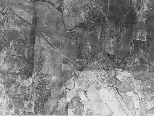 The Loddon River from the air - 1949