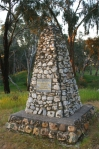 Mitchell cairn in Rotunda Park